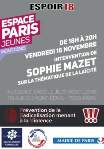 Espoir 18- Laicite Sophie Mazet